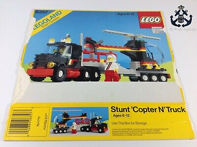 Lego Vintage Classic Town Stunt 'Copter N' Truck Box For Set 6357-1