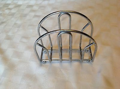 Chrome Metal Napkin Holder with Ball Feet~Good Used Condition (Chrome Ball Feet)