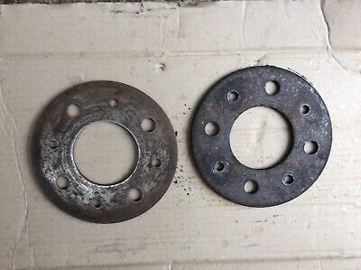Lancia montecarlo Fiat 124 850 Spider pair Hub spacers 4 x 98 pcd 5mm thick for sale  Shipping to South Africa