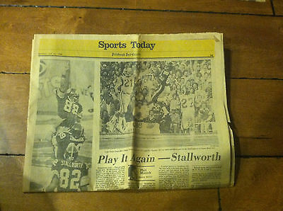 Pittsburgh Post Gazette Steelers Superbowl Cover Section Of Newspaper Jan 1980