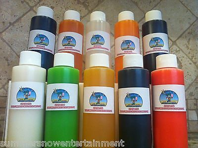 Shaved Ice Snow Cone Concentrate-10 4oz Bottles Each Bottle Makes 1 Gallon