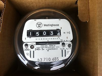 Westinghouse Electric Watthour Meter Kwh Ez Readcyclone 240v 200 Amps 3w