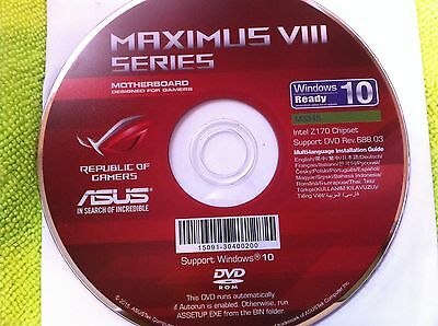 Asus Maximus Viii Extreme  Motherboard Drivers Installation Disk Original One