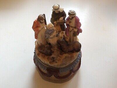 Unique Kurt S. Adler Musical Poly Resin Nativity Scene