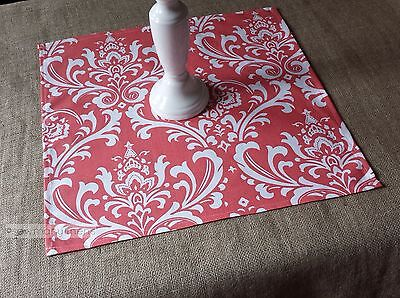 Coral Table Square Overlay Wedding Table Centerpiece Floral Decor Cloth Linens](Coral Table Cloth)