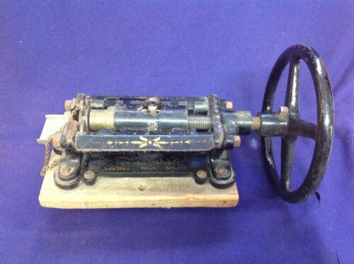 RARE 1895 ANTIQUE CAST IRON PHARMACY PRESS WHITALL TATUM SUPPOSITORY MACHINE NO3