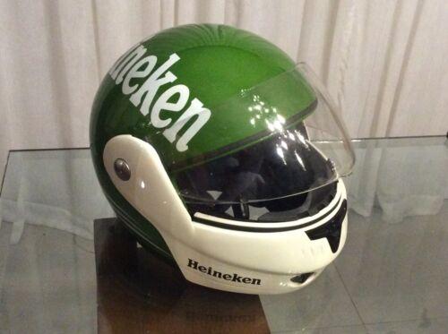 Vintage Heineken motorcycle helmet