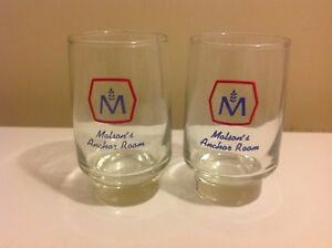Set of 2 RARE Vintage Molson Anchor Room  Beer glasses