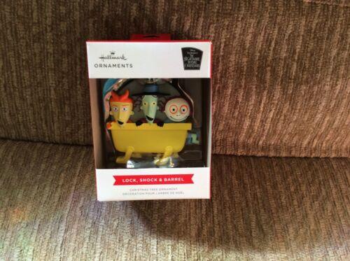 2021 Hallmark Nightmare Before Christmas Red Box Ornament Lock Shock Barrel NIB
