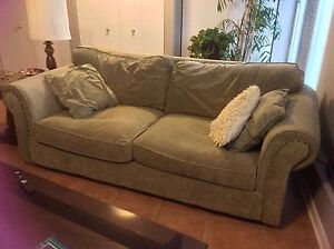 FREE large synthetic suede / velour sofa, 3 seater