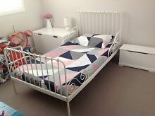Extendable bed frame with slatted bed base, white Middleton Grange Liverpool Area Preview