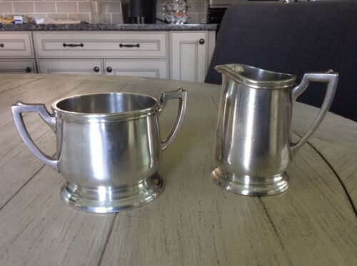 Set of 2 Int'l Silver Co. creamer and sugar