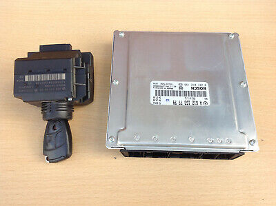 MERCEDES CLK W209,C W203 ENGINE CONTROL MODULE ECU SET IGNITION KEY A6121537779