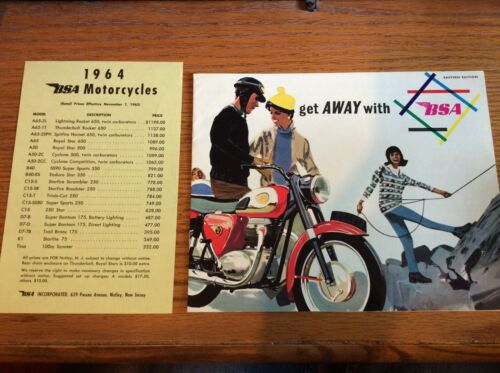 VTG 1964 BSA MOTORCYCLES SALES BROCHURE