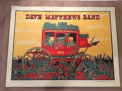 Dave Matthews Band Poster 2016 Oklahoma City Ok Chesapeake Energy S     570 Dmb