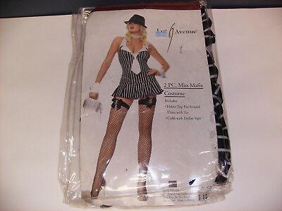 LEG AVENUE MISS MAFIA WOMEN HALLOWEEN COSTUME MEDIUM/LARGE](Women Mafia Costume)