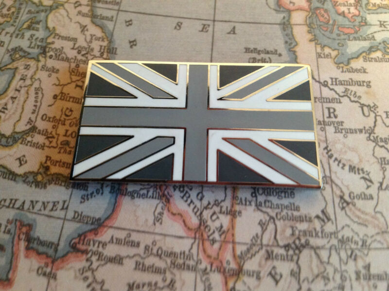 MG Union Jack GB Metal Enamel Classic Car Badge in Black /& Red Self Adhesive