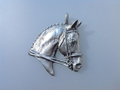 Dressage Horse Pewter Pendant key chain  jewelry Zimmer equestrian  jewelry