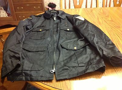 Vintage Dixmoor Police State of Illinois Police Jacket Navy