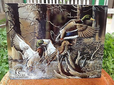 DUCKS UNLIMITED BEAVER POND Tin Sign Wall Bar Garage Decor Classic Vintage