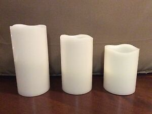 Set of Pillar Candles - battery operated