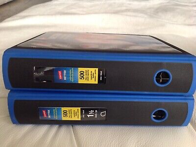 2 Pack Better Binders 1.5-inch 3-ring View . Blue 500 Pages.