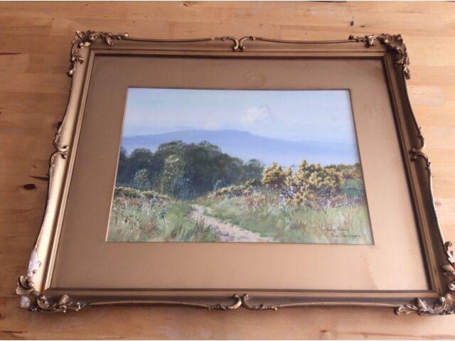 Original  Evelyn Bishop a.ka. Frank Dobson painting Near Okehampton Devon