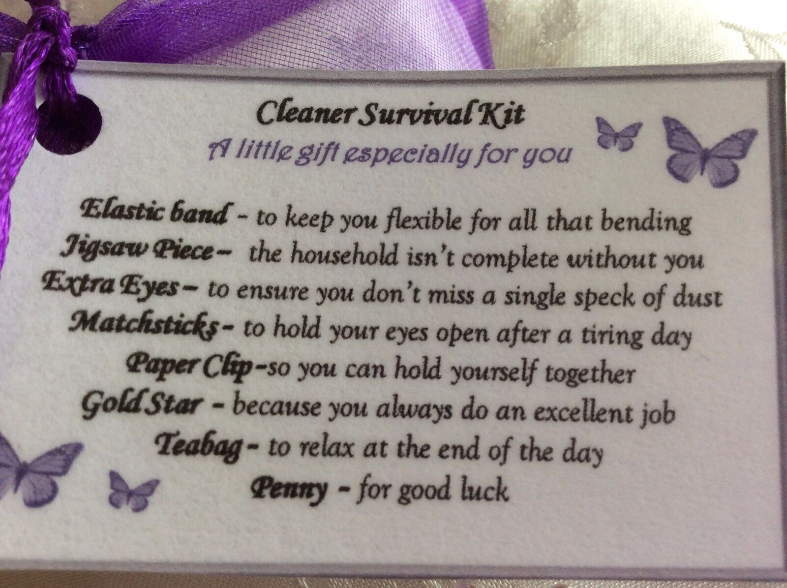 Details About Keepsake Thank You Gift For Cleaner Carer Carehome Birthday Present Her
