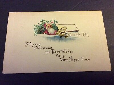 A MERRY CHRISTMAS AND BEST WISHES Postcard Postmarked (Merry Christmas And Best Wishes)