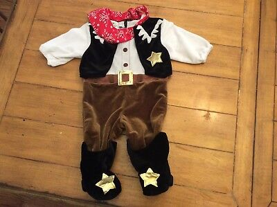 Miniwear Babies R Us Cowboy Sheriff Costume 6 -12 Months Western - Western Baby Halloween Costumes