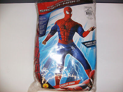 THE AMAZING SPIDER-MAN 2 SPIDERMAN MEN HALLOWEEN COSTUME XL