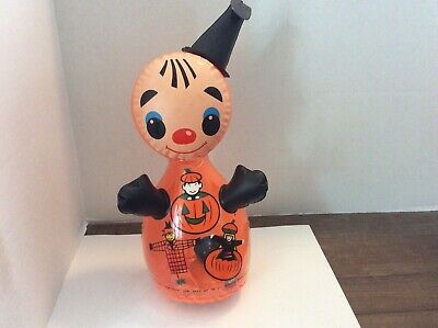 VINTAGE HALLOWEEN BLOW UP INFLATABLE MADE IN TAIWAN 12 INCHES