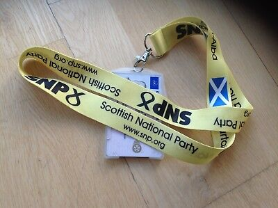 SNP Scottish National Party Scotland independence lanyard flag ID holder badge