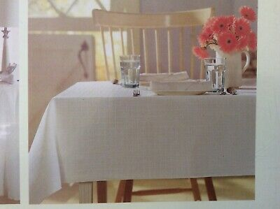 """NWT Oblong Tablecloth 60"""" X 84"""" Table Cover Skirt+Free Anthropologie Hand Cream"""