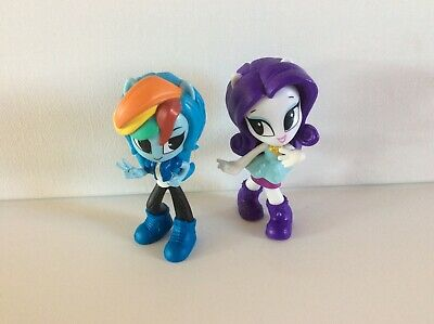 "My Little Pony Equestria Girls RAINBOW DASH & RARITY Mini Figures 3.5"""