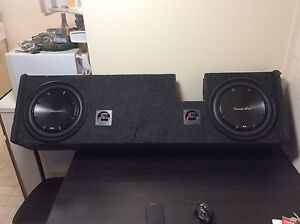 1200 watt amp, with two subs, for vehicle