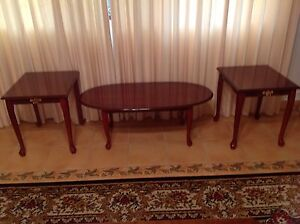 COFFEE TABLE AND 2 MATCHING SIDE TABLE LAMPE TABLE VINTAGE Dural Hornsby Area Preview
