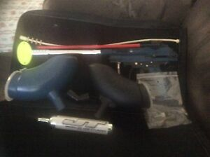 Brass eagle marauder paintball gun with two hoppers and more