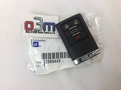 2008 - 2011 Cadillac DTS or CTS 4 Button Keyless FOB REMOTE # 1 w/ Alarm new OEM