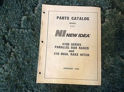 988003 - A New Parts Manual For A New Idea 4100 Series Parallel Bar Rakes 410