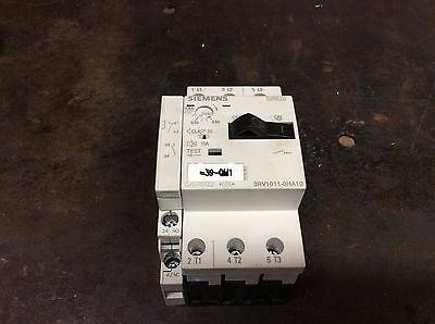 Siemens Circuit Breaker, # 3RV1011-0HA10, w/ 3RV1901-1A, Used,  WARRANTY