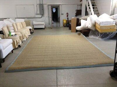 Ballard Designs Seagrass Indoor Area Carpet Rug Spa Border 10x14 10' Seagrass Area Rug