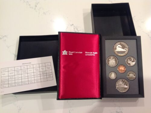 1986 Canada Proof Double Dollar Set (7 Coins Cent to Silver Dollar Mint Set)