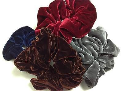 Samt-scrunchie (Samt-Scrunchie Haargummi ca. 12 cm braun blau bordeaux rot grau schwarz )