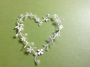 10 x BINGHAM HEARTS Memory box  die cuts  Valentines / Wedding **FREE POSTAGE**