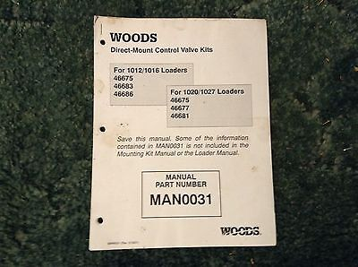 Man0031 - A New Installation Manual For A Woods Direct-mount Control Valve Kits.