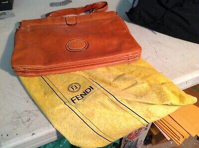 VINTAGE LEATHER FENDI HANDBAG PURSE WITH BAG