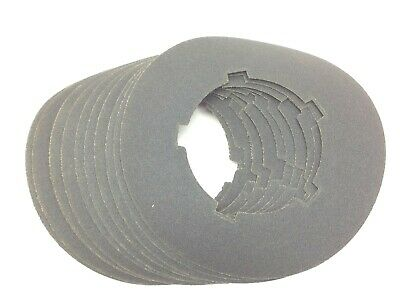 Sanding Disc 80 Grit Silicon Carbide 10 Dia. 5-14 Id Lot Of 12