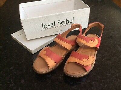 Josef seible sandal Roma size 7 (41). In red