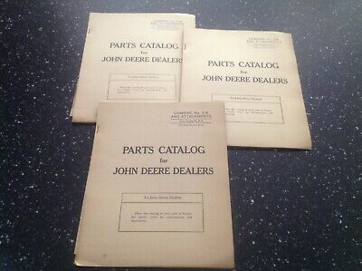 John Deere No. 5-a Combine Attachments Parts Catalog 54-h Vintage